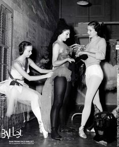 SFB dancers Sue Loyd, Gloria Canicilla, and Sally Bailey